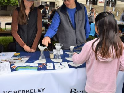 Berkeley SRP Trainees teaching children about water filtration at CalDay (April 2017)