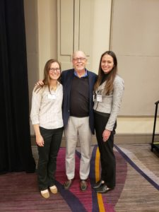 Jean van Buren and Sara Gushgari pictured with Dr. William Suk after receiving their poster awards